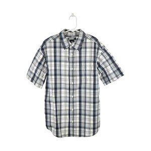 Cherokee Button Down Shirt L Blue